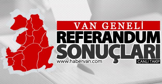 16 Nisan 2017 Van referandum sonuçları: Evet ve Hayır oy oranları