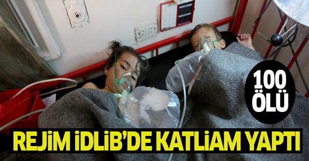 İdlib'te katliam! Rejimden İdlib'e klor gazlı saldırı: 100 ölü