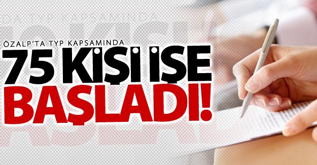 Özalp'ta 75 işçi için kura çekildi! 75 kişi işe başladı
