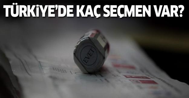 Türkiye'de toplam kaç seçmen var? İşte yanıtı