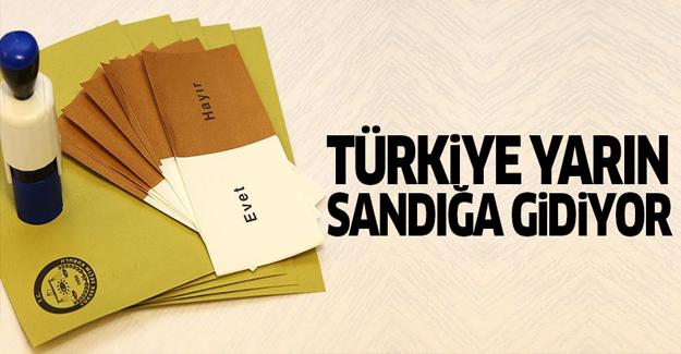 Türkiye yarın sandık başına gidiyor