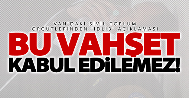 Van'daki sivil toplum örgütlerinden 'İdlib' açıklaması