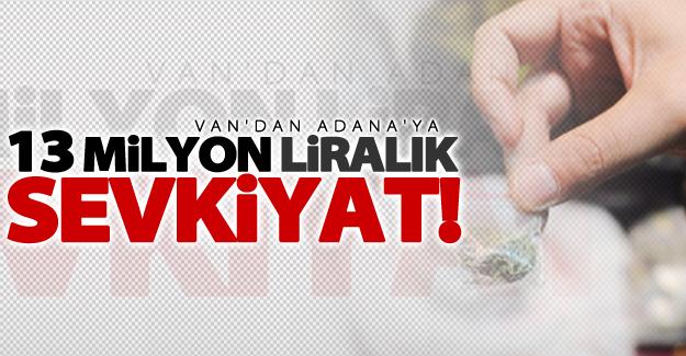 Van'dan Adana'ya uzanan 13 milyon liralık uyuşturucu sevkiyatı