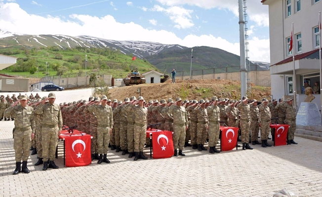 Çatak'ta 371 güvenlik korucuları yemin edip göreve başladı