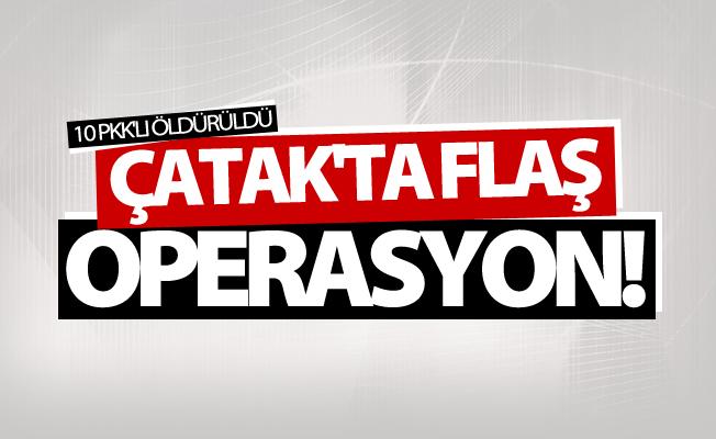 Çatak'ta operasyon! 10 PKK'lı öldürüldü