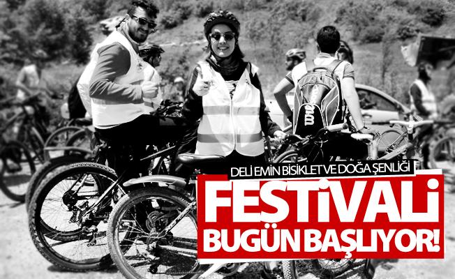 """""""Deli Emin Bisiklet ve Doğa Şenliği"""" Festivali bugün başlıyor"""