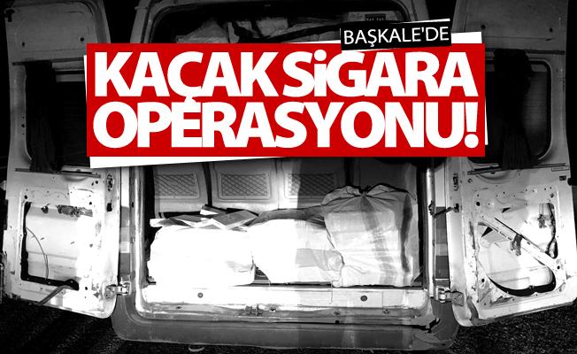 Başkale'de 25 bin paket kaçak sigara ele geçirildi