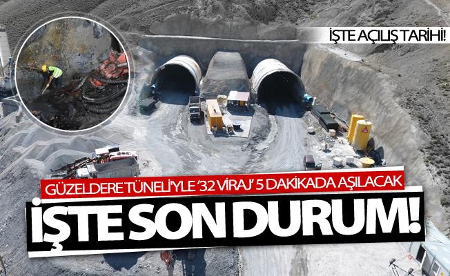 Güzeldere Tüneli'yle '32 viraj' 5 dakikada aşılacak
