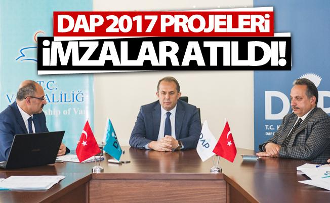 İmzalar attıldı! DAP 2017 projeleri