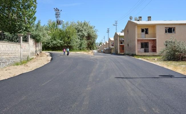 Şemsibey Mahallesinde asfalt çalışması
