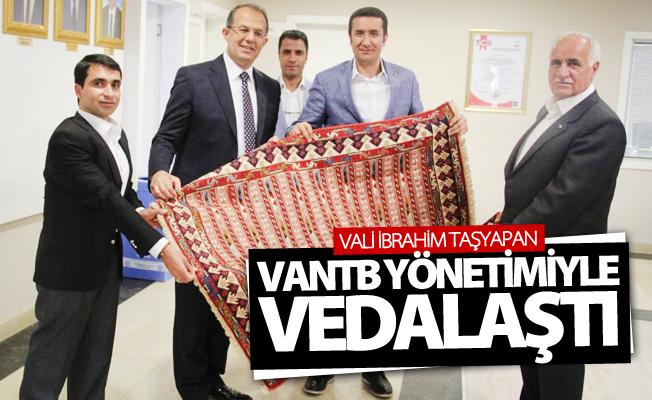 Vali Taşyapan, VANTB yönetimiyle vedalaştı