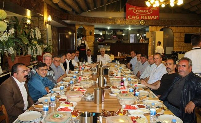 Van'da makinistler iftar yemeğinde bir araya geldi