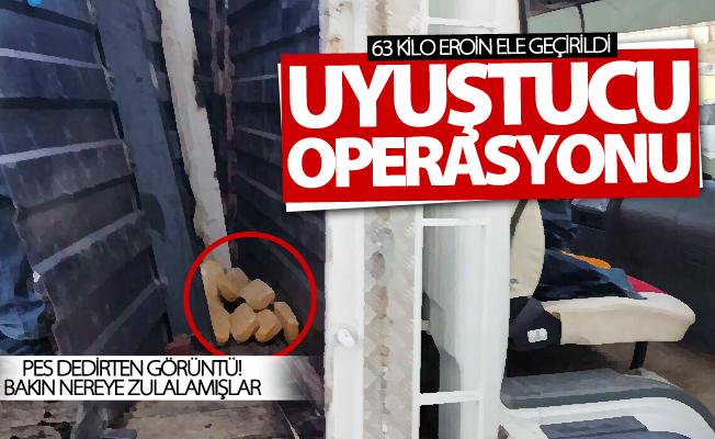 Van'da uyuşturucu operasyonu! 63 kilo eroin ele geçirildi