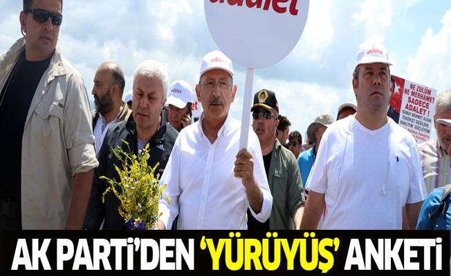 Ak Parti'den 'CHP yürüyüşü' anketi
