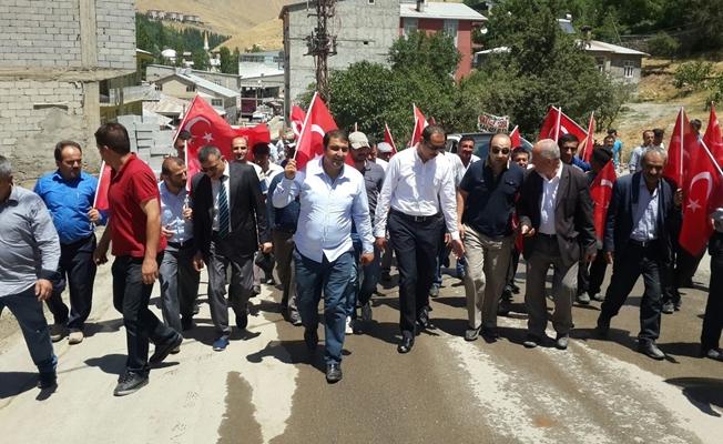 Bahçesaray'da 15 Temmuz Şehitlerini Anma Demokrasi ve Milli Birlik Günü programı