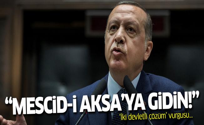 Cumhurbaşkanı Erdoğan'dan Mescid-i Aksa çağrısı!