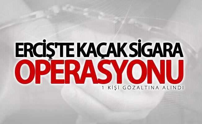 Erciş'te kaçak sigara operasyonu! 1 gözaltı