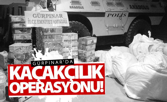 Gürpınar'da kaçakçılık operasyonu! 1 gözaltı