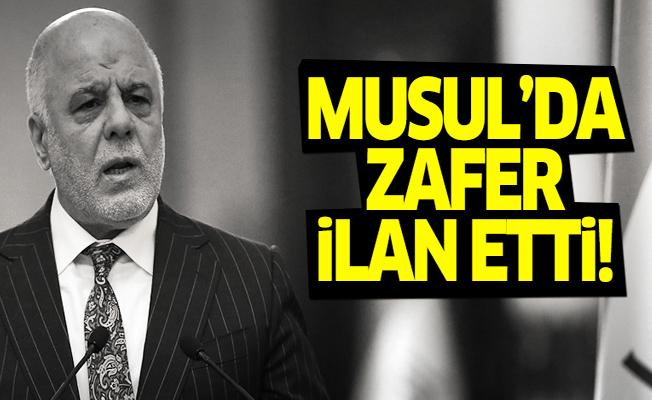 Irak Başbakanı İbadi, Musul'da zafer ilan etti!