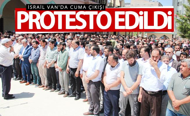 Mescid-i Aksa'nın ibadete kapatılması Van'da protesto edildi