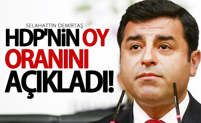 Selahattin Demirtaş HDP'nin oy oranını açıkladı