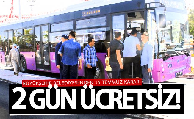 Van Büyükşehir'den ücretsiz ulaşım müjdesi