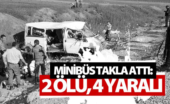 Van'da feci kaza! Minibüs takla attı: 2 ölü, 4 yaralı