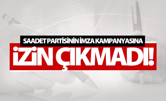 Van Valiliği'nden Saadet Partisinin imza kampanyasıyle ilgili karar