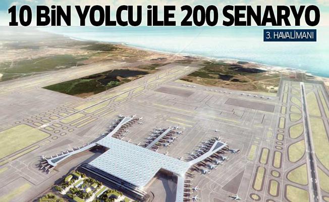 10 bin yolcu ile 200 senaryo