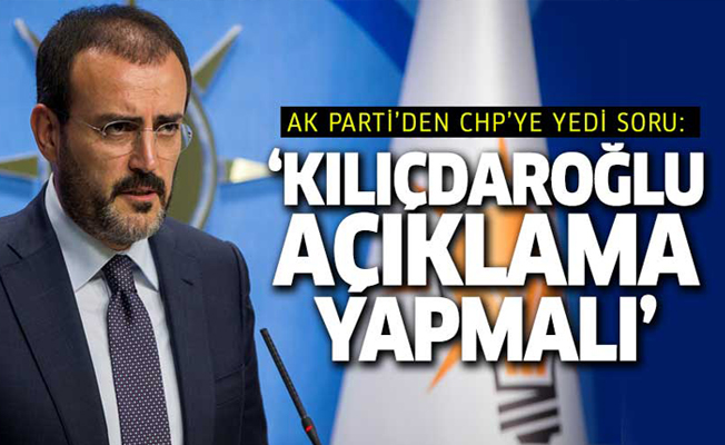 AK Parti'den CHP'ye 7 soru