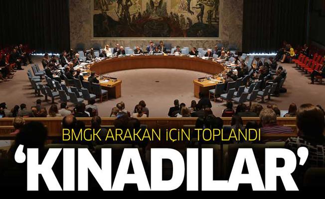 BMGK Arakan için toplandı! Sonuç 'Kınadılar'