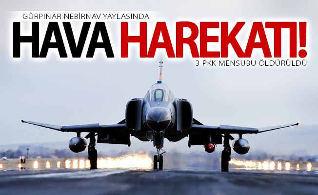 Gürpınar'da hava harekatı! 3 PKK mensubu öldürüldü