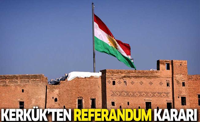 Kerkük'ten son dakika referandum kararı!