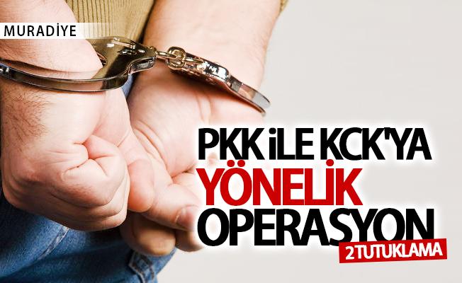 Muradiye'de PKK'ya yönelik operasyon: 2 tutuklama