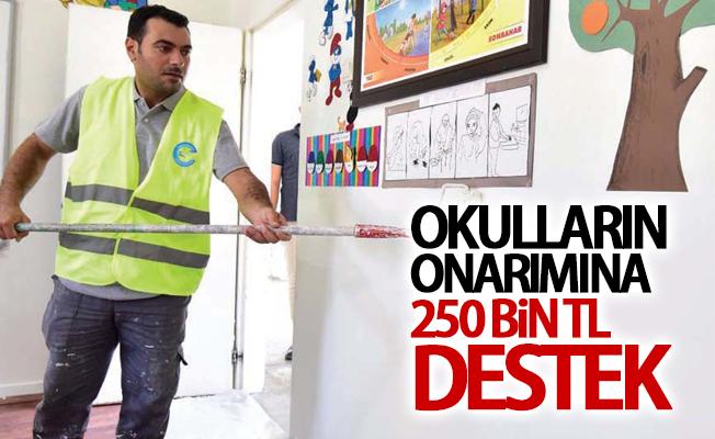 Okulların onarımına 250 bin TL destek