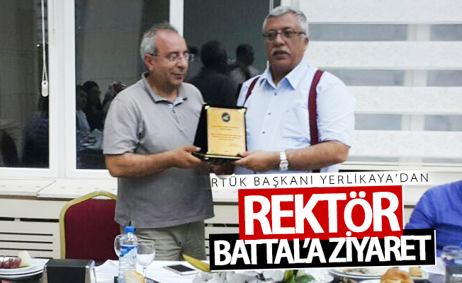 RTÜK Başkanı Yerlikaya'dan Rektör Battal'a ziyaret