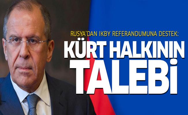 Rusya'dan IKBY referandumuna destek: Kürt halkının talebi