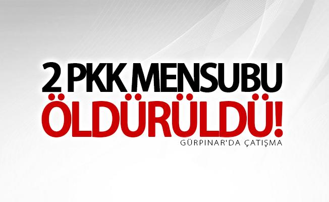 SON DAKİKA! Gürpınar'da çatışma: 2 PKK'lı öldürüldü
