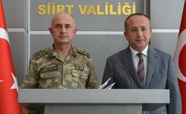 Van Asayiş Jandarma Komutanı Korgeneral Karataş, Siirt'te
