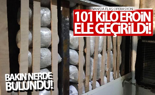 Van'da büyük operasyon! 101 kilo eroin ele geçirildi