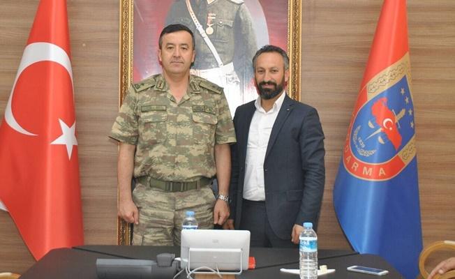 Yücebaş'tan Tuğgeneral Özfidan'a ziyaret