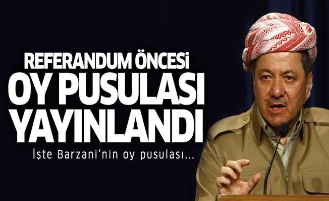 Barzani'nin oy pusulası yayınlandı