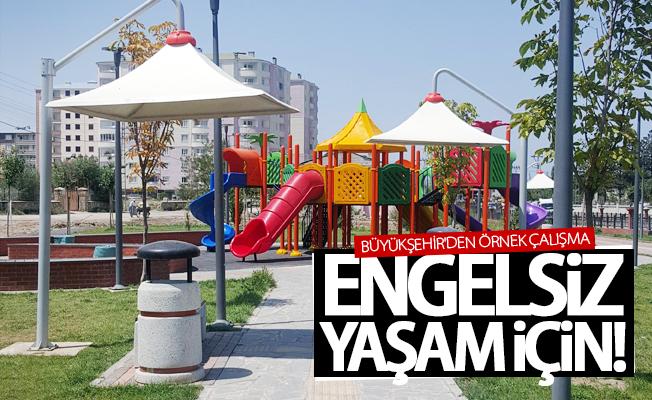 Büyükşehir'den parklarda örnek çalışma