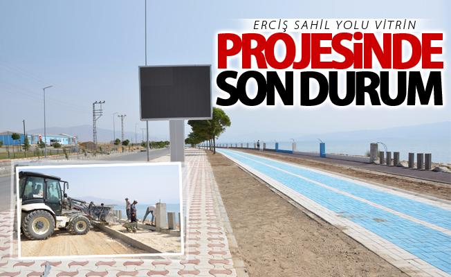 Erciş sahil yolu vitrin projesinde son durum