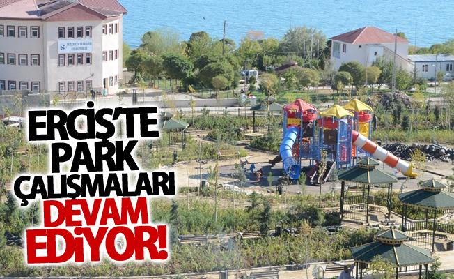 Erciş'te Park Çalışmaları Devam Ediyor