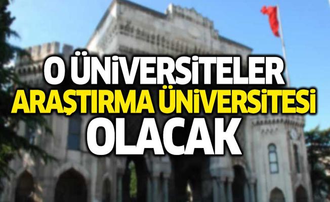 Erdoğan'dan 'Araştırma Üniversitesi' açıklaması