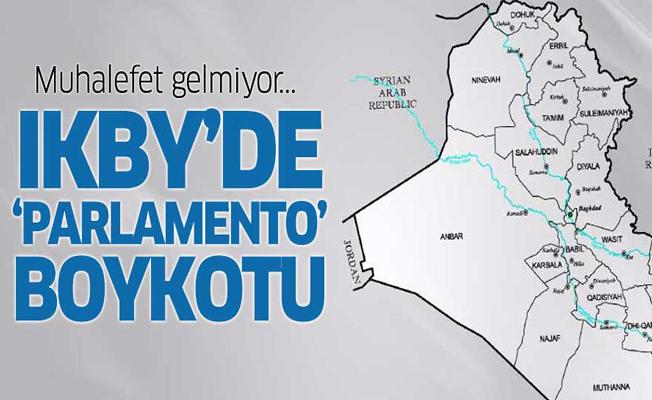 IKBY muhalefetinden 'Parlamento' boykotu