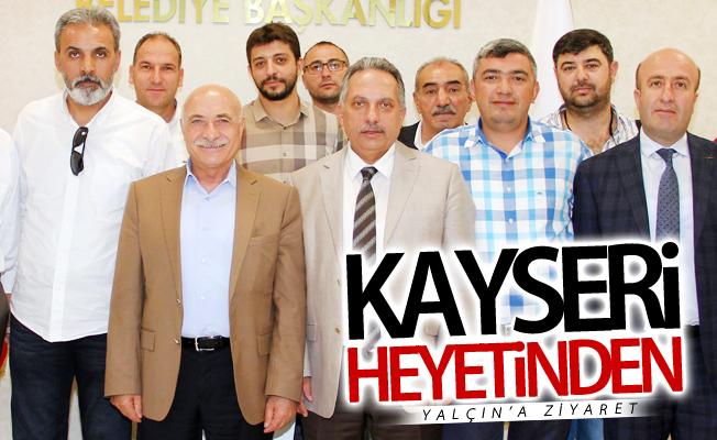 Kayseri heyetinden Mustafa Yalçın'a ziyaret