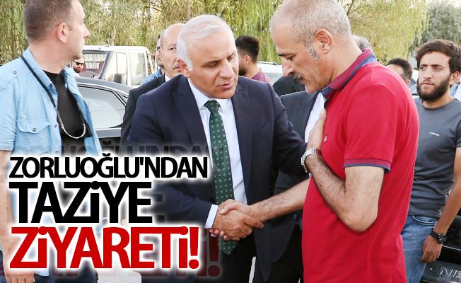 Vali Zorluoğlu'ndan personellerine taziye ziyareti