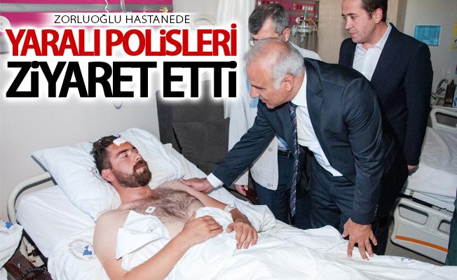 Vali Zorluoğlu yaralı polis memurlarını ziyaret etti